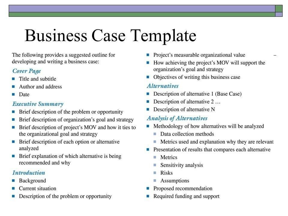 Business Case Template Ppt | Template Business