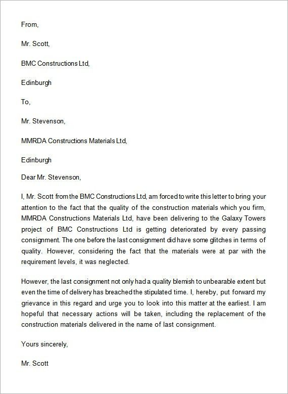Complaint Letter - 16+ Download Free Documents in Word, PDF