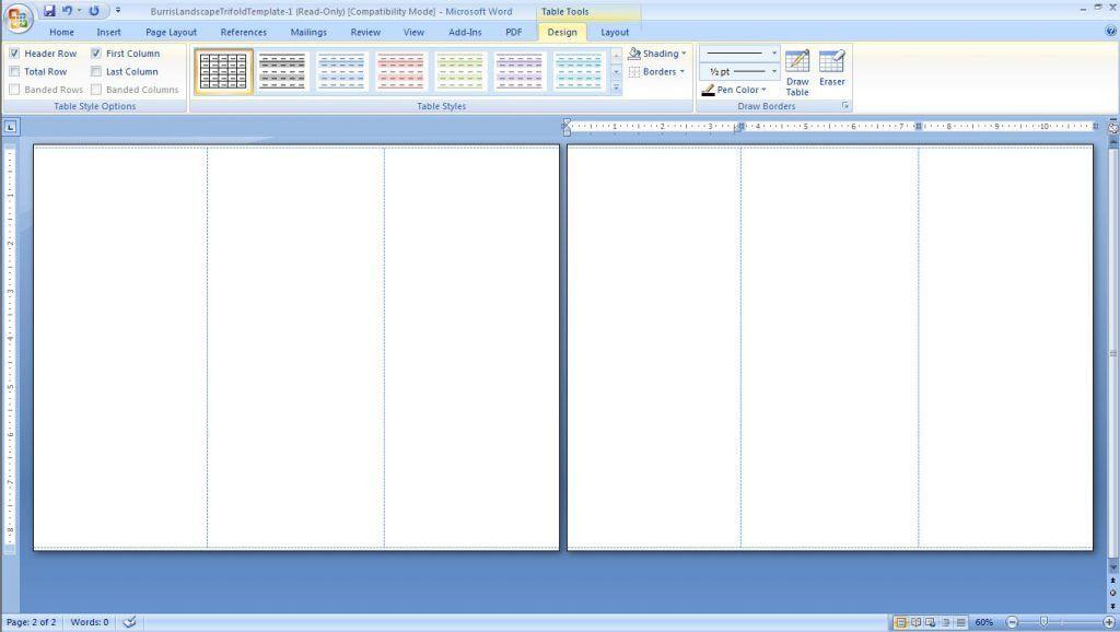 computer forms blank brochure template word blank brochure ...