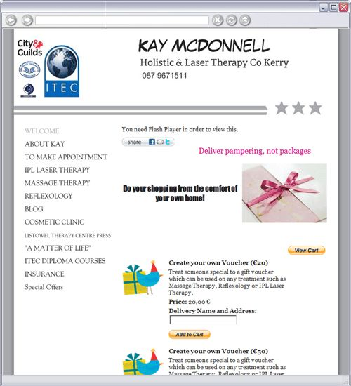 Kay McDonnell| holistic / IPL laser therapist Kerry - WELCOME