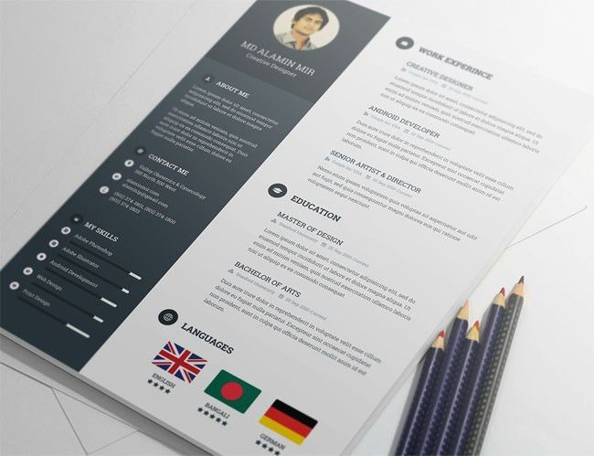 28 free cv resume templates html psd indesign. modern resume ...