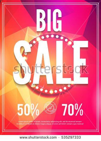 Sale Poster Template Spotlight Space Vector Stock Vector 535297300 ...