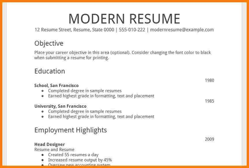 Clever Design Ideas Resume Template Google 14 Free Resume ...