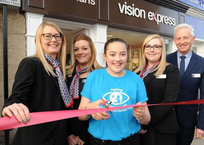 L-R Vision Express Wetherby store manager Sarah Mills, optical ...
