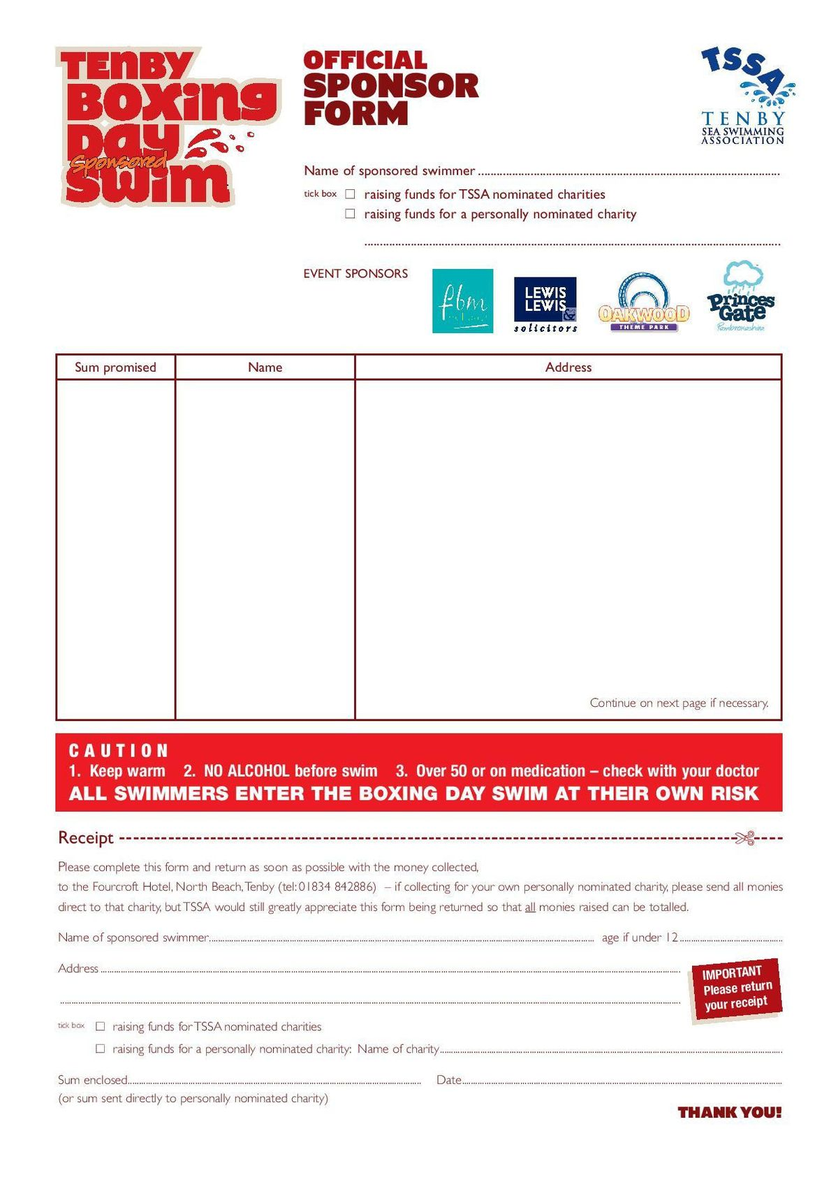 Sponsorship Form. Event Forms & Fundraising Form Templates ...