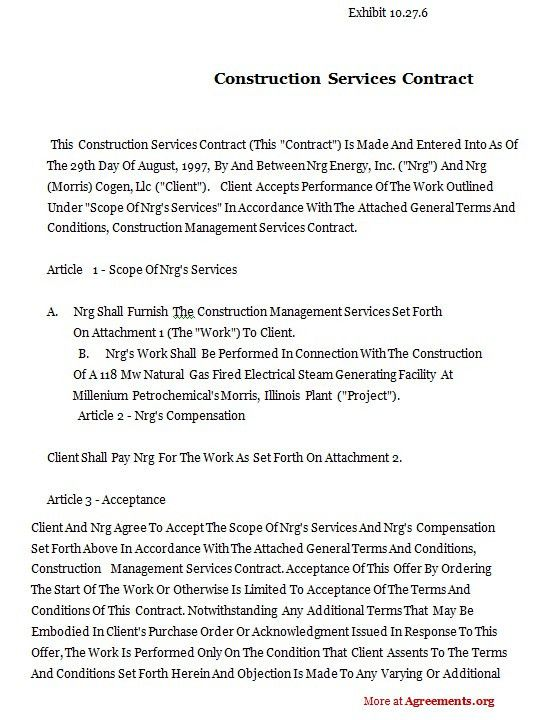 Construction Contract Template | cyberuse