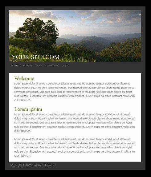0781 - Simple Personal CSS Templates - Free Website Templates ...