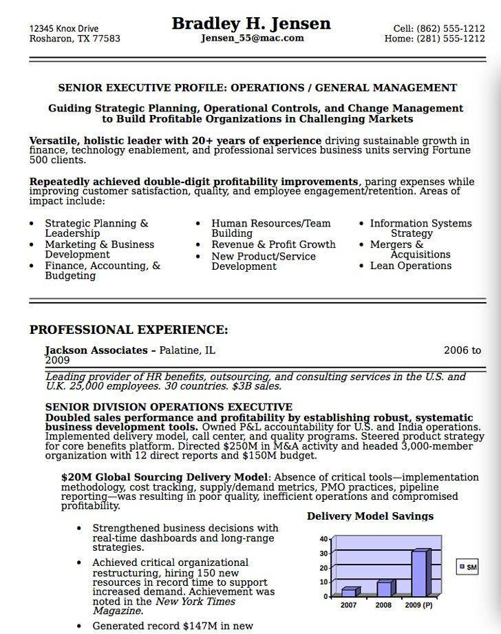 Resume Examples For Executives. Senior Executive Resume Examples ...