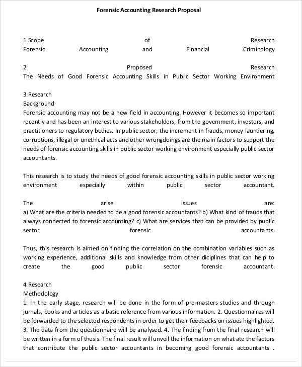 Accounting Proposal Templates - 9 Free Word, PDF Format Download ...