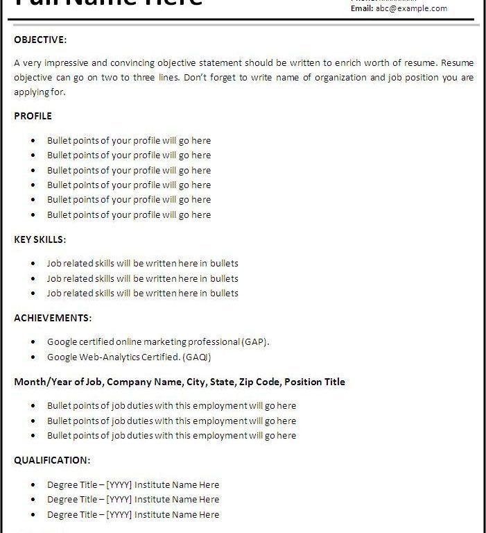Download Resume Work Experience Format | haadyaooverbayresort.com