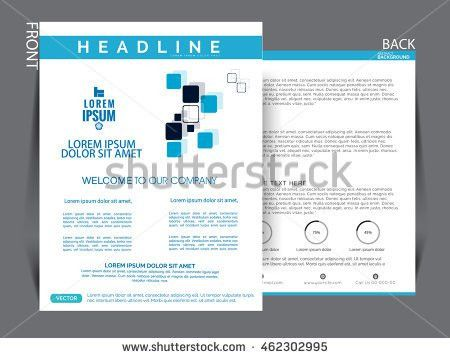 Business Leaflet Layout Vector Design A4 Stock Vector 414443329 ...