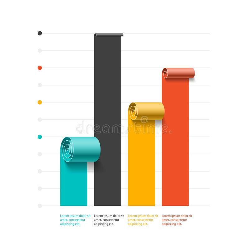 Spiral Business Graph, Bar Chart Template, Infographics Element ...