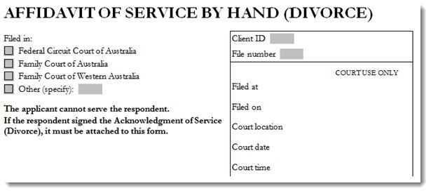 How to fill out an affidavit