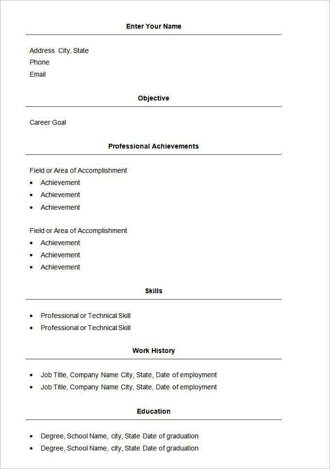 exclusive idea basic resume example 11 sample resume resumecom ...