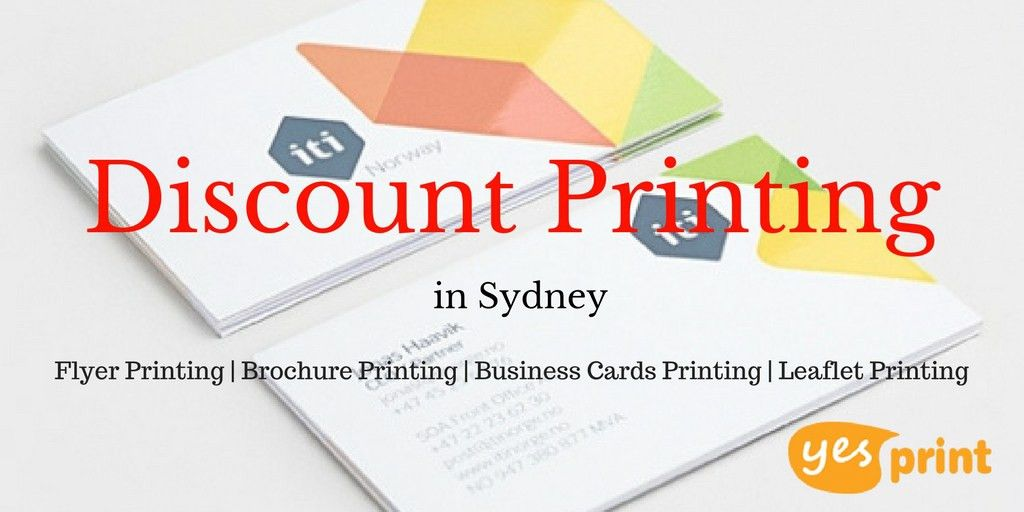 Get discount printing in Sydney. Print flyers, business cards ...