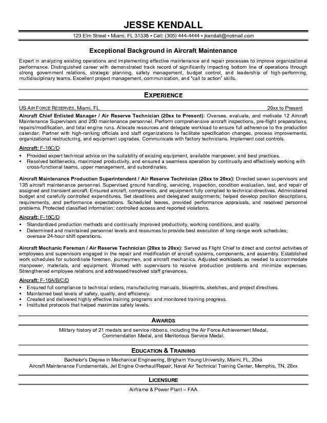 Helicopter Maintenance Engineer Cover Letter