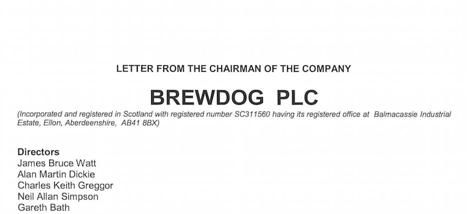 BrewDog – shareholder letters and class C shares – Spirited Matters