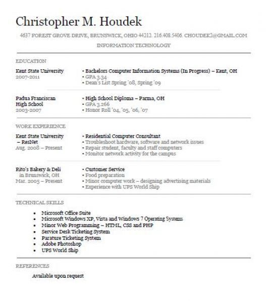 sample resumes for high school students with no experience ...