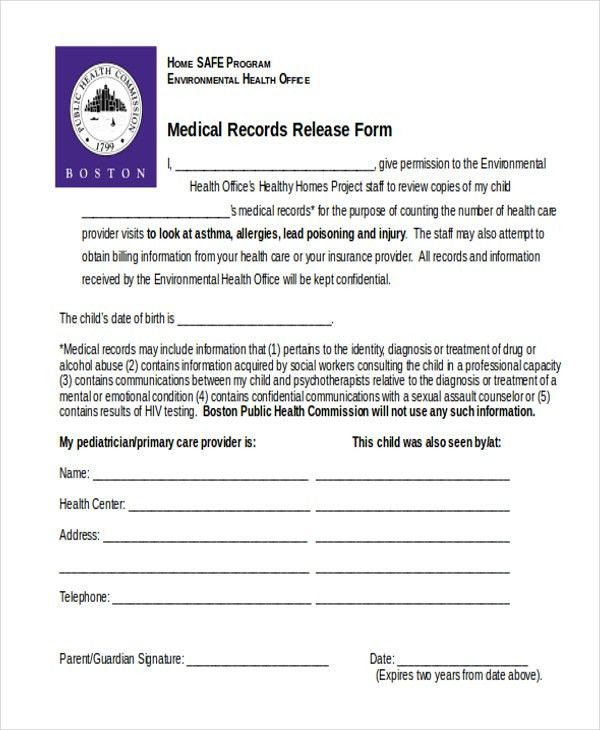 Sample Medical Release Form - 11+ Free Documents in word, PDF