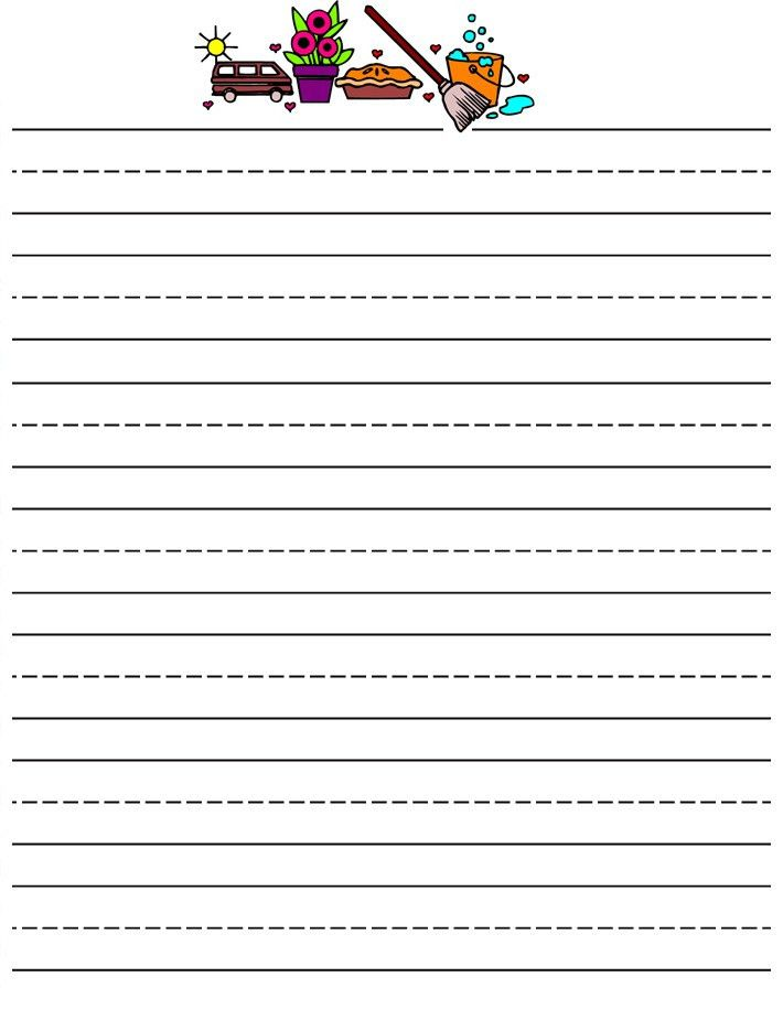 free printable stationery for kids, free lined kids writing paper