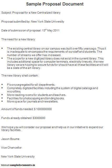 Sample Proposal Document | Proposal Documents | Pinterest | Proposals