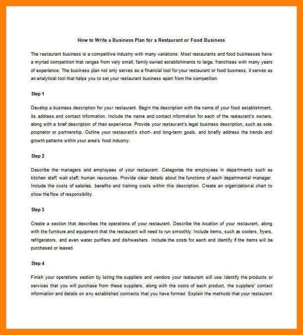 8+ free restaurant business plan template pdf | joblettered