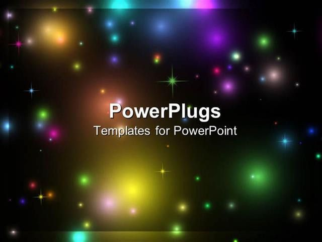 PowerPoint Template: a view of lots of colorful lights in space (8582)