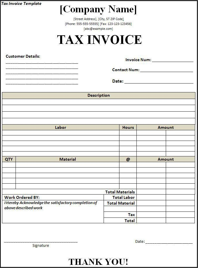 invoice book template