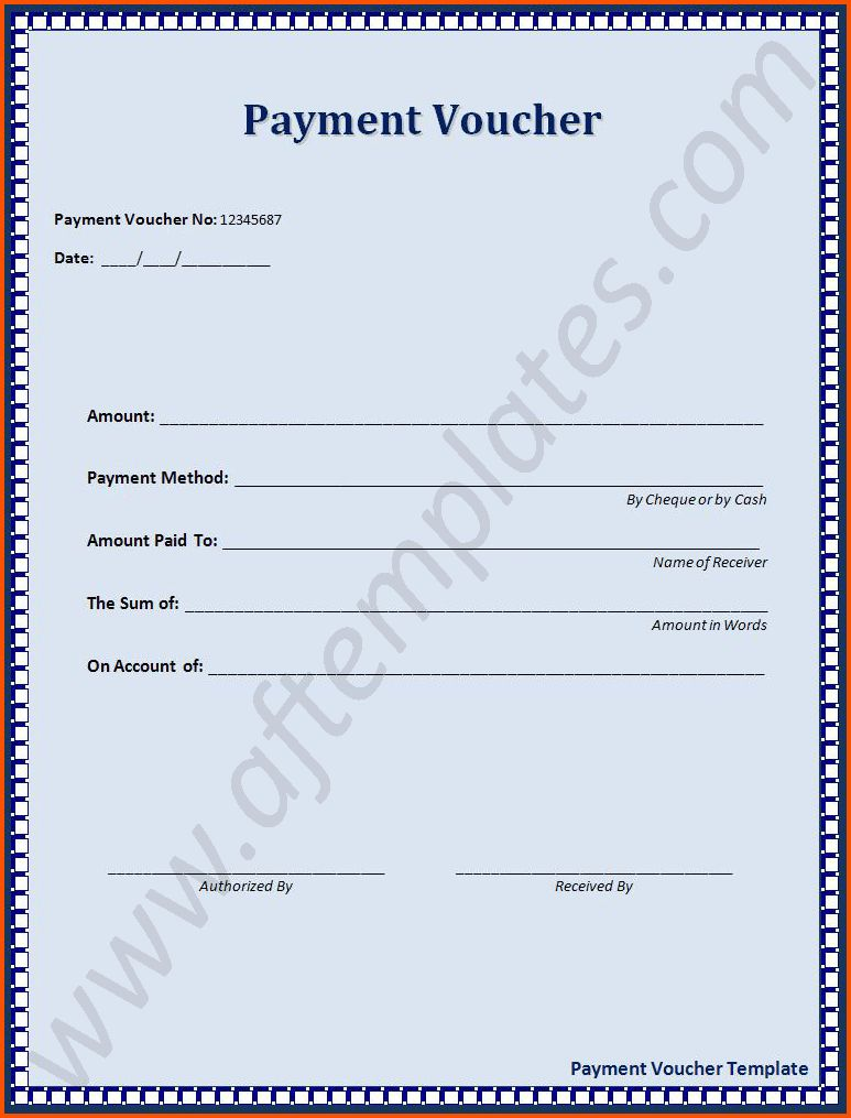 5 payment voucher template | Survey Template Words