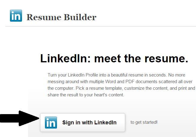 linkedin resume creator