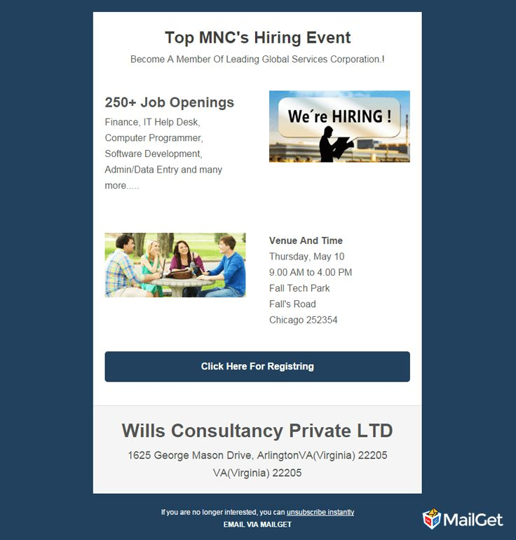 10 Best & Free Job Recruitment Email Templates | MailGet