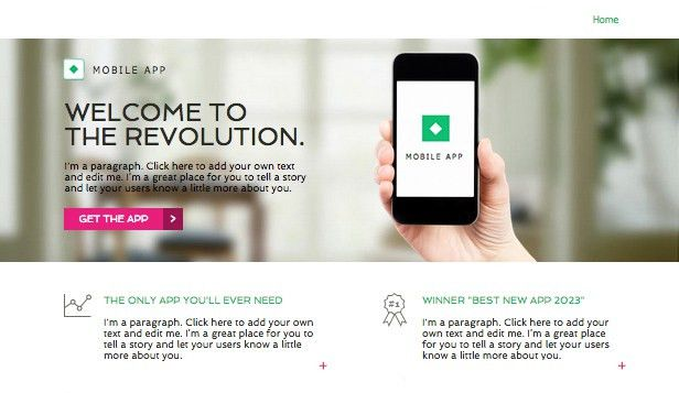 Landing Pages Website Templates   Wix Page 2