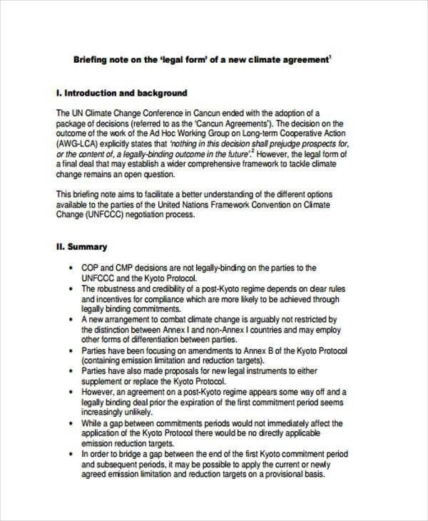 9 Briefing Note Templates - Free Sample, Example Format Download ...