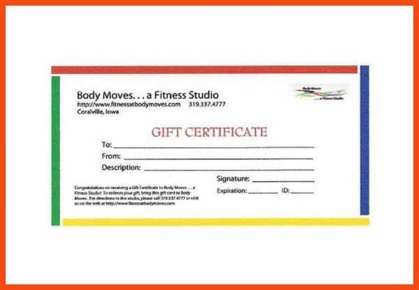 sample gift certificate | program format