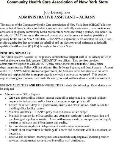 Medical Administrative Assistant Job Description Sample - 7+ ...