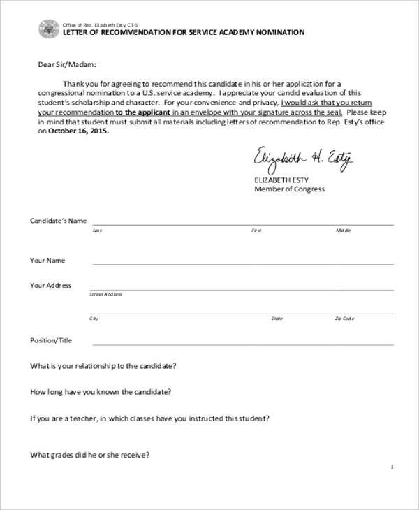 Military Letter Of Recommendation. General Resume Navy Letter Of ...