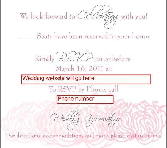 Online RSVP – what do you think of the wording - Weddingbee