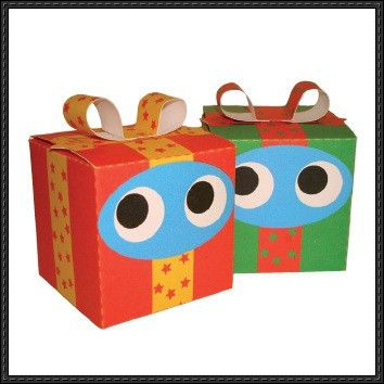 New Paper Craft] Christmas Papercraft – Presents Cube Craft Free ...