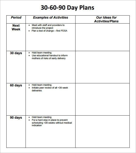 30 60 90 Day Sales Plan Template Free Sample | aplg-planetariums.org