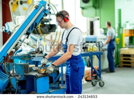 Two Worker Factory On Machine Stock Photo 537764908 - Shutterstock