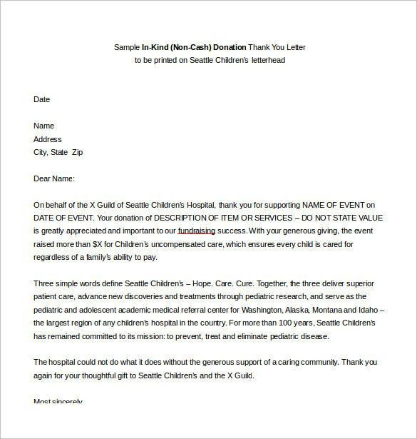 Amazing Thank You Letter For A Gift – Letter Format Writing