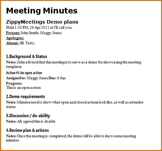 8+ meeting notes format | Authorizationletters.org