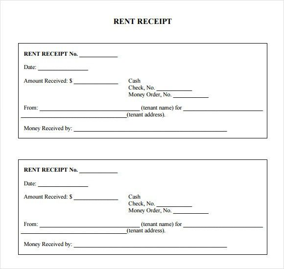 7+ Rent Receipt Templates – Free Samples, Examples, Format