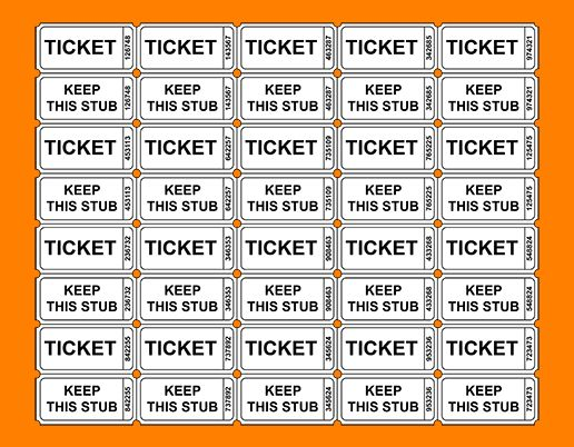 4+ printable raffle tickets template | meal plan spreadsheet