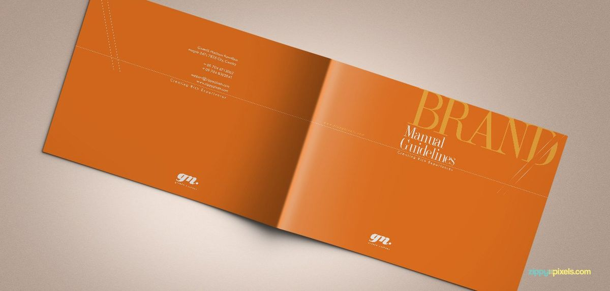 The Original Orange – Brand Book Template for Brand Guidelines ...