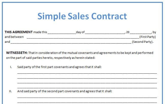 Example Of Business Contract Between Two Parties | Create ...