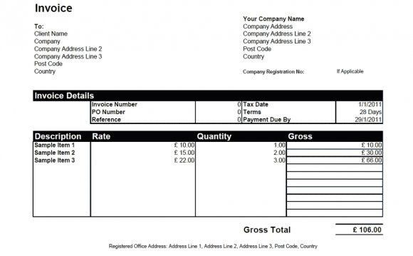 Graphic design Freelance invoice // Work on the Internet at Home