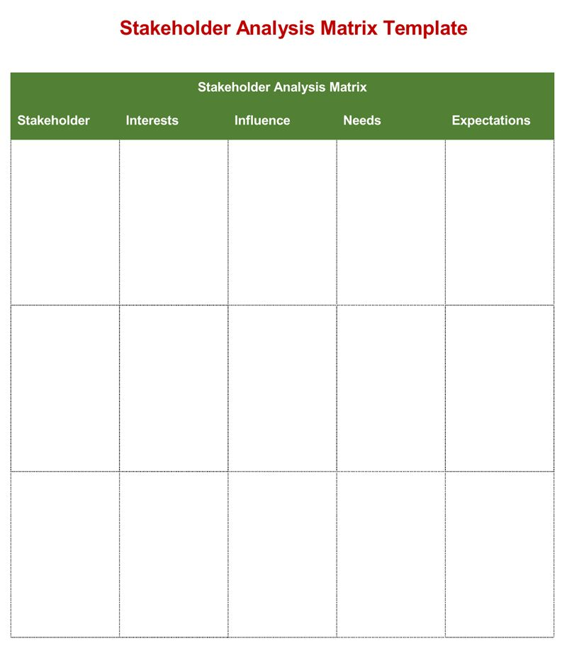 8 Best Templates to Analysis Stakeholders (Word, Excel, PowerPoint ...
