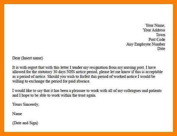 5+ letters of resignation nursing | packaging clerks