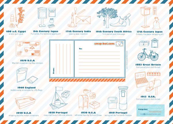free, printable Swap-bot mailing label